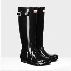 Women's Original Tall Gloss Rain Boots: Black